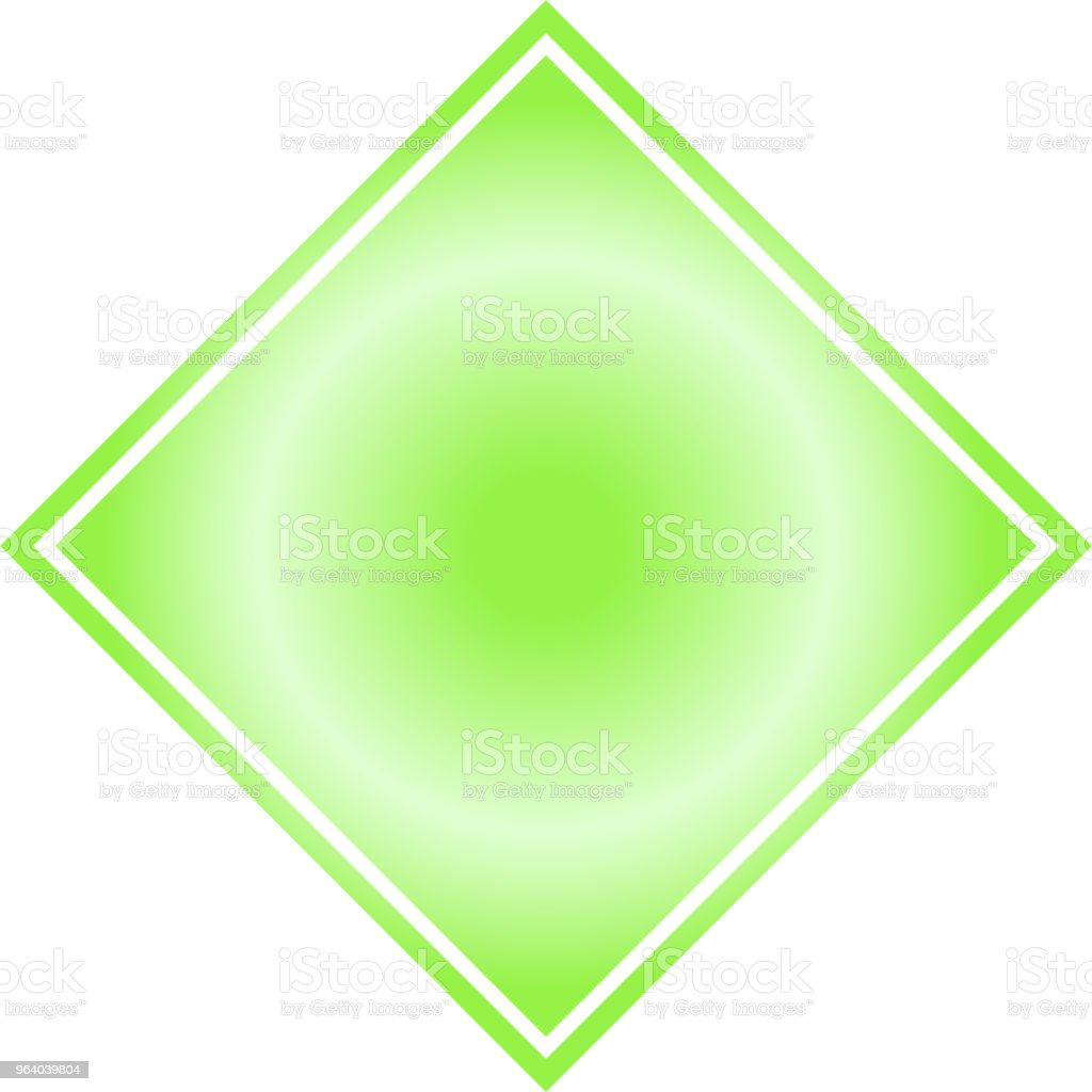 Green Square celebration paper - Royalty-free Abstract stock vector