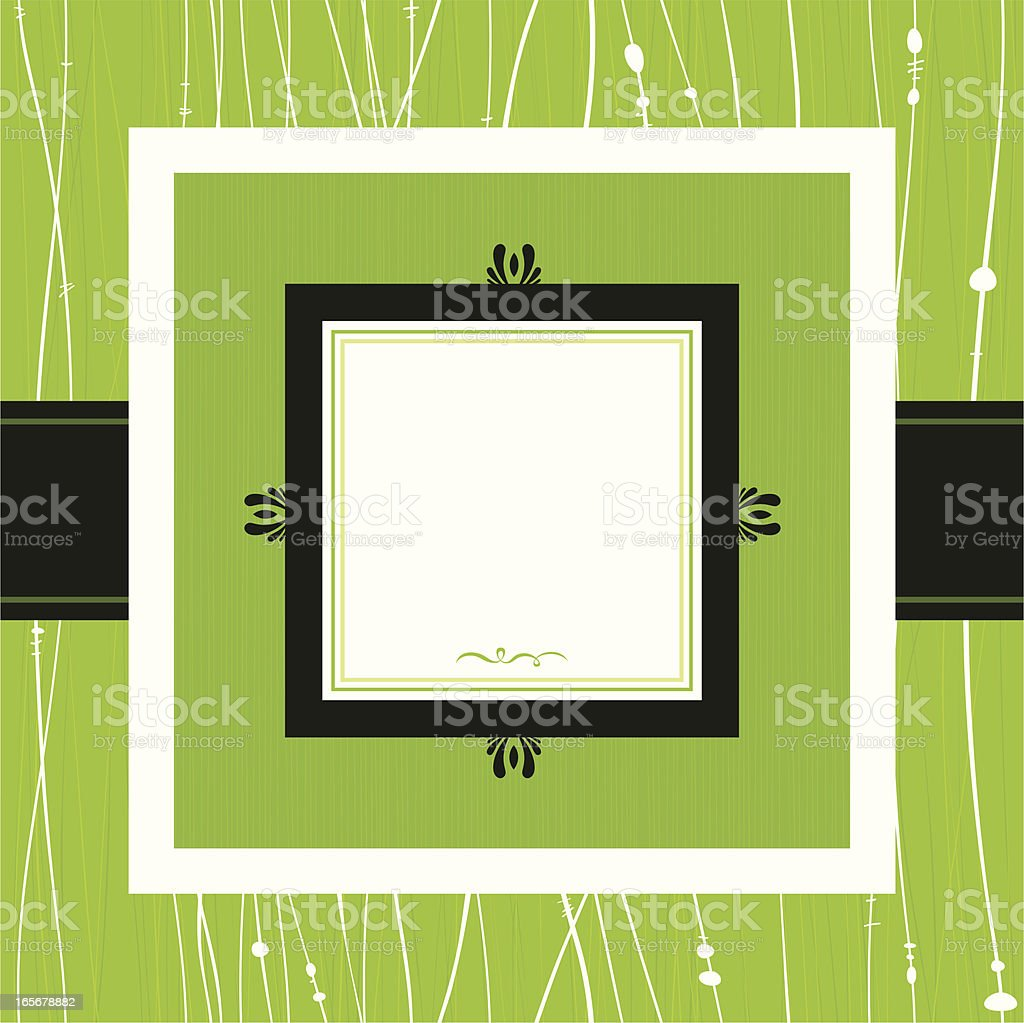 Green Square Frame royalty-free stock vector art