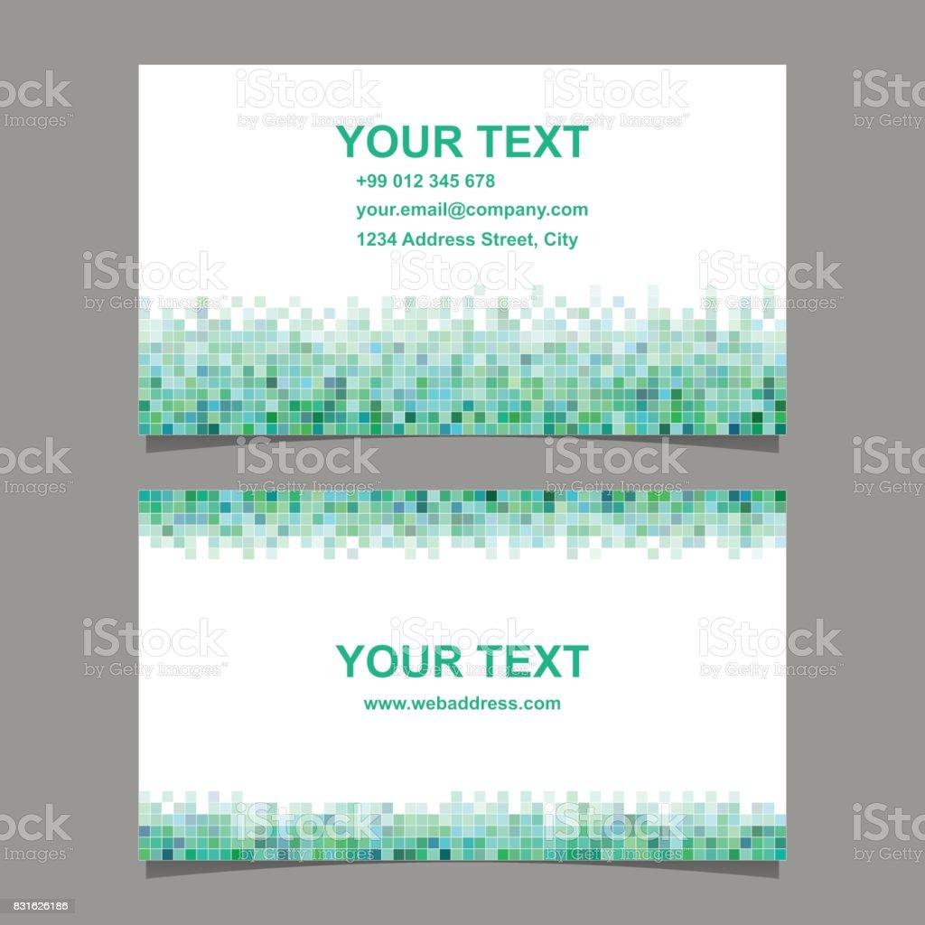 Grünes Quadrat Mosaikvisitenkartendesign Stock Vektor Art