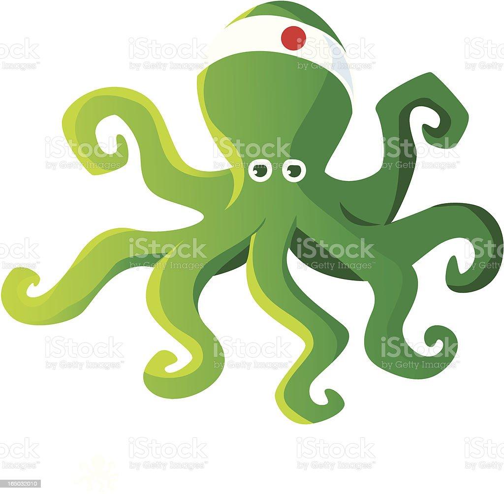 Green Squid royalty-free stock vector art