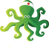 Kung fu green squid