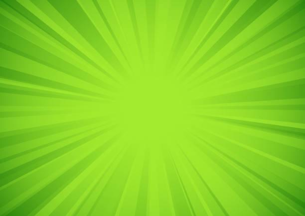 Green star burst background vector art illustration