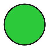 Green sticker