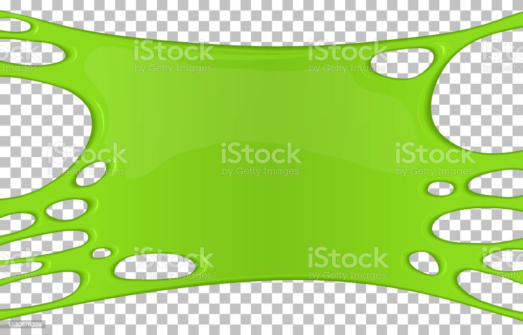 Green sticky slime banner with copy space vector art illustration