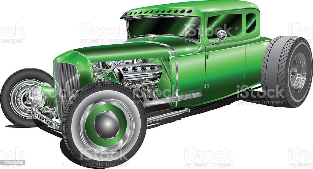 green street rod – Vektorgrafik