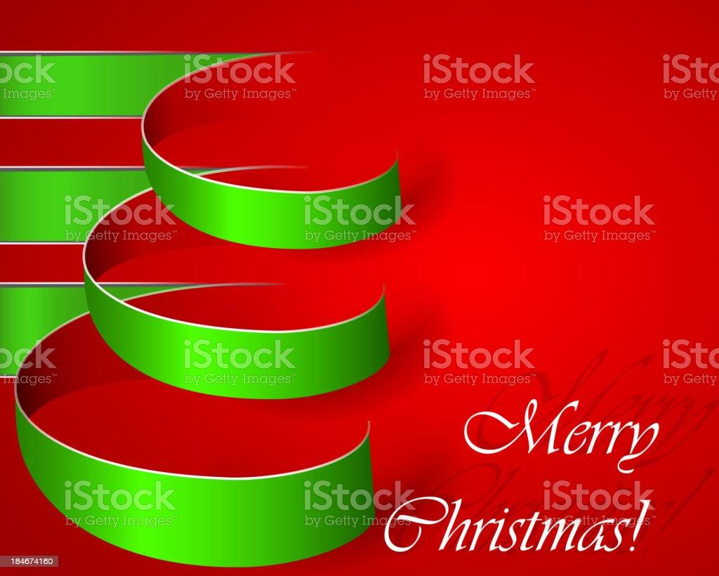 Weihnachten Vektor-Baum mit grünen Streifen Lizenzfreies weihnachten vektorbaum mit grünen streifen stock vektor art und mehr bilder von band