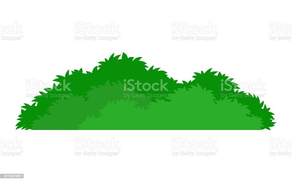 icône vert buisson stylisée - Illustration vectorielle