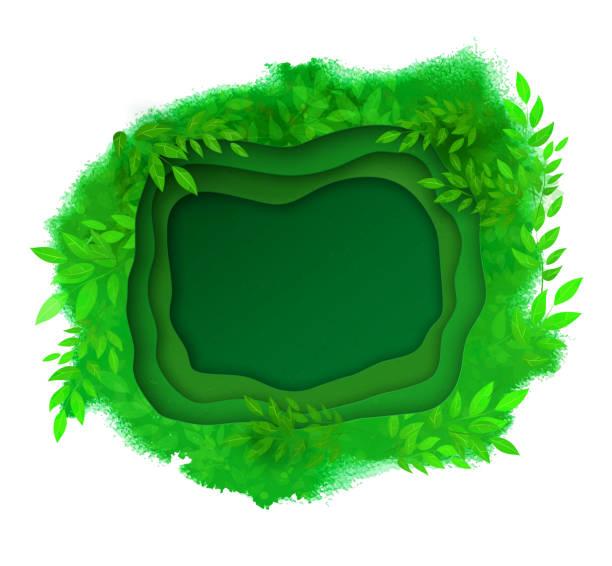 grüner sommer-und frühlingshintergrund - gartenskulpturkunst stock-grafiken, -clipart, -cartoons und -symbole