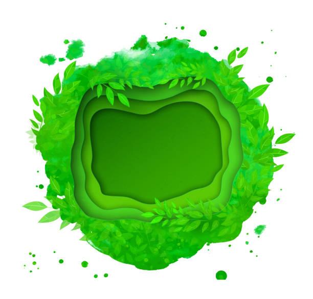 grünen sie sommer und frühling hintergrund - gartenskulpturkunst stock-grafiken, -clipart, -cartoons und -symbole
