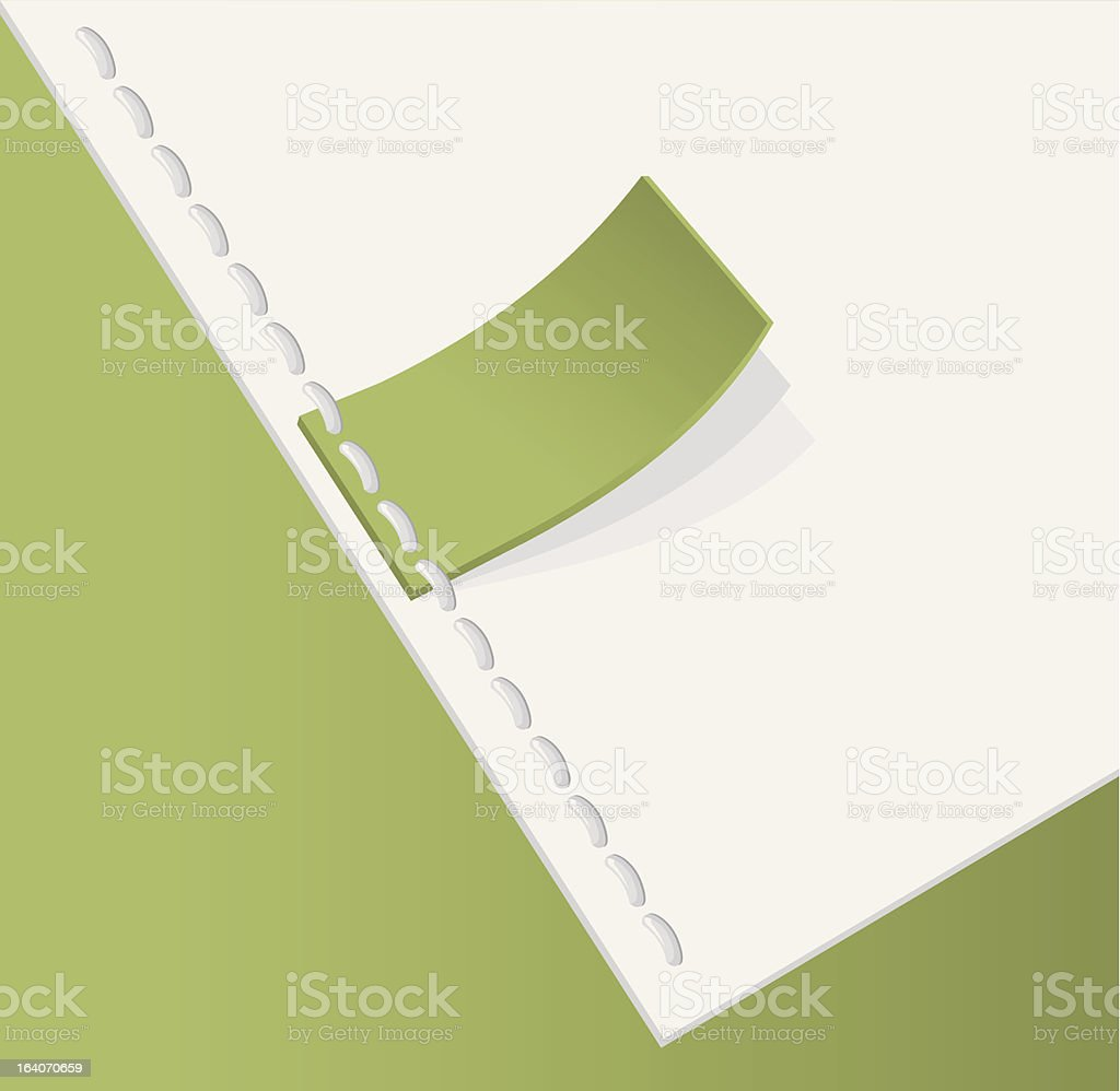 Green tag stitched royalty-free stock vector art