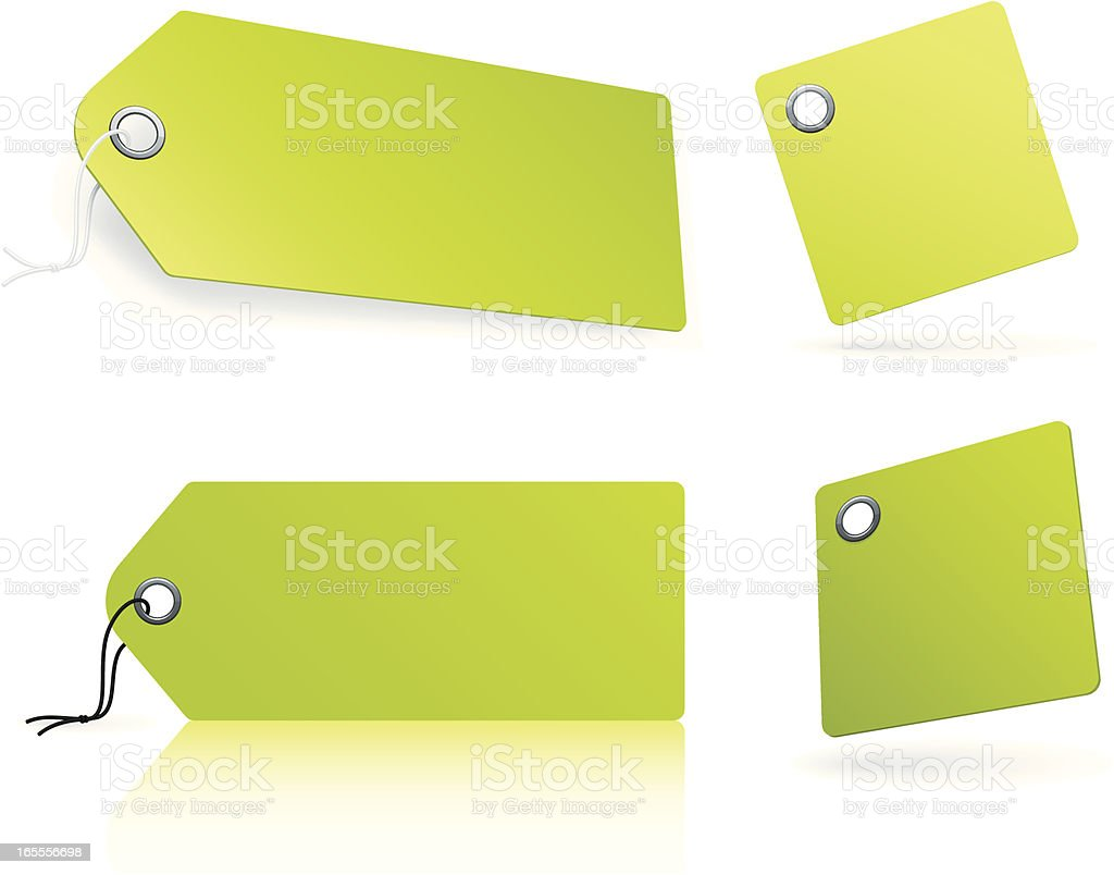 Green tags royalty-free stock vector art