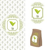Green tea branding concept