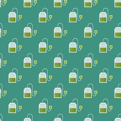 Green Tea Naturopathy Seamless Pattern