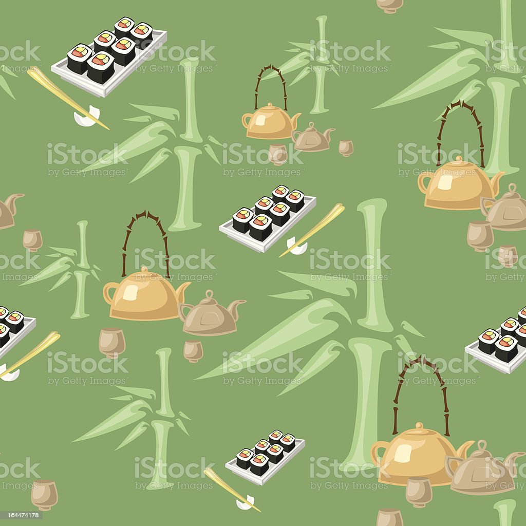 Green tea pattern royalty-free green tea pattern stock vector art & more images of backgrounds