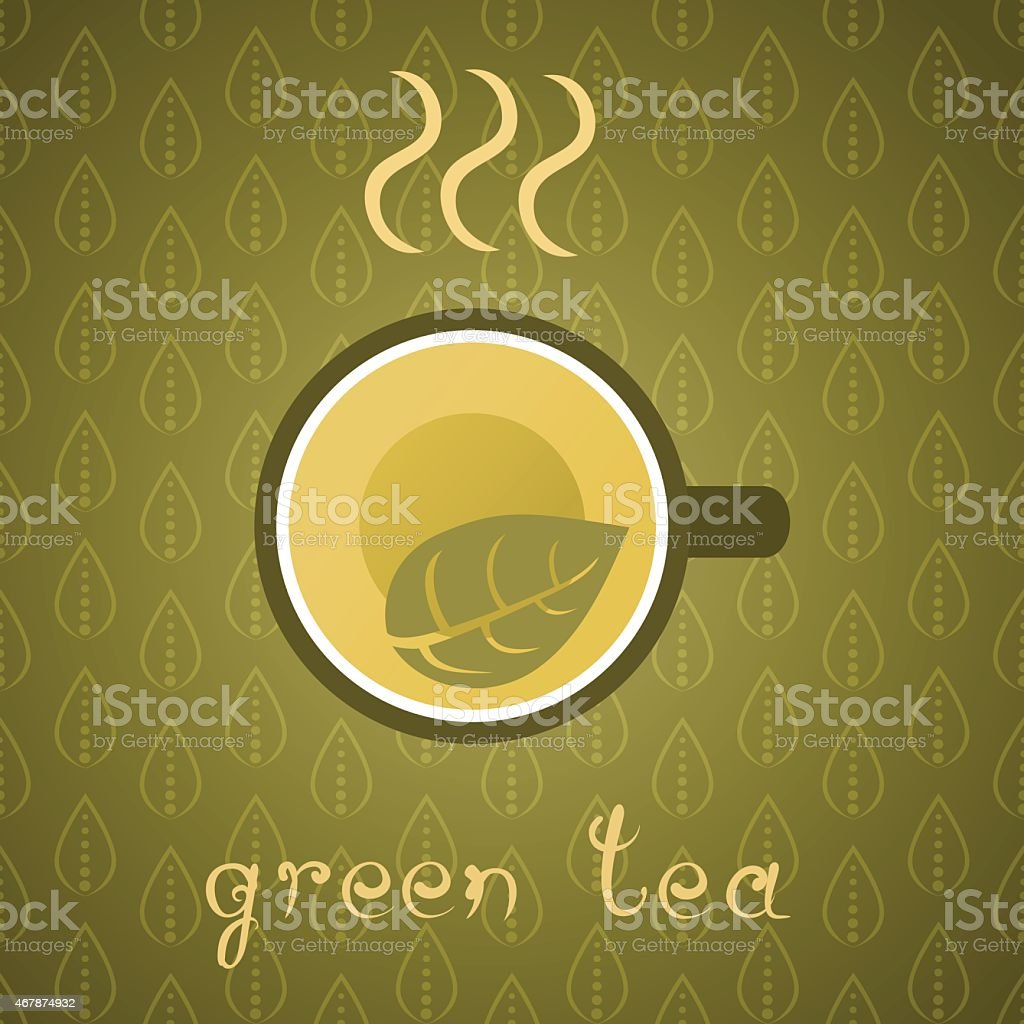 Green Tea Poster vector art illustration