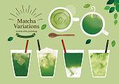 istock Green tea variation watercolor 1207199487