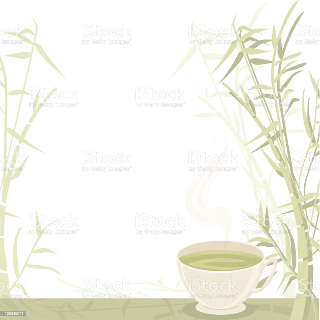 Green Tea royalty-free green tea stock vector art & more images of backgrounds