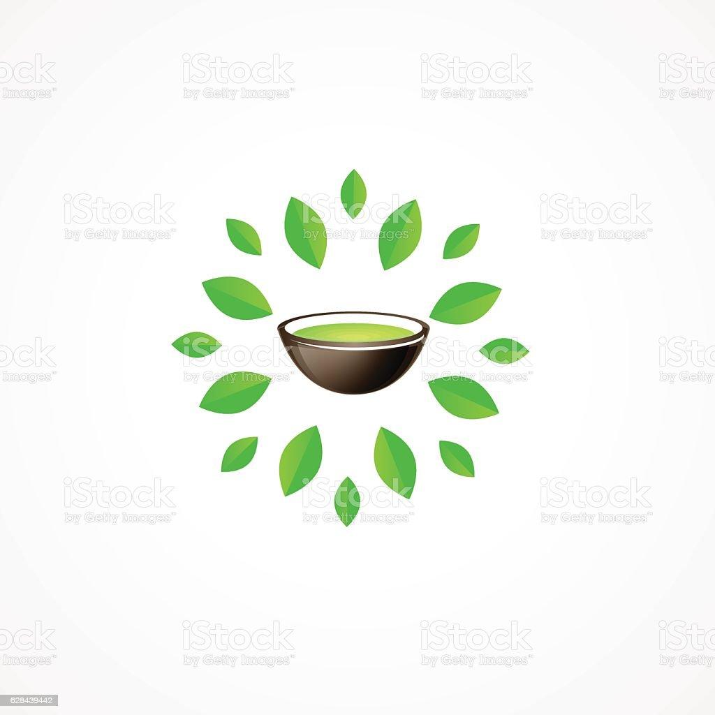 Green Tea. vector art illustration