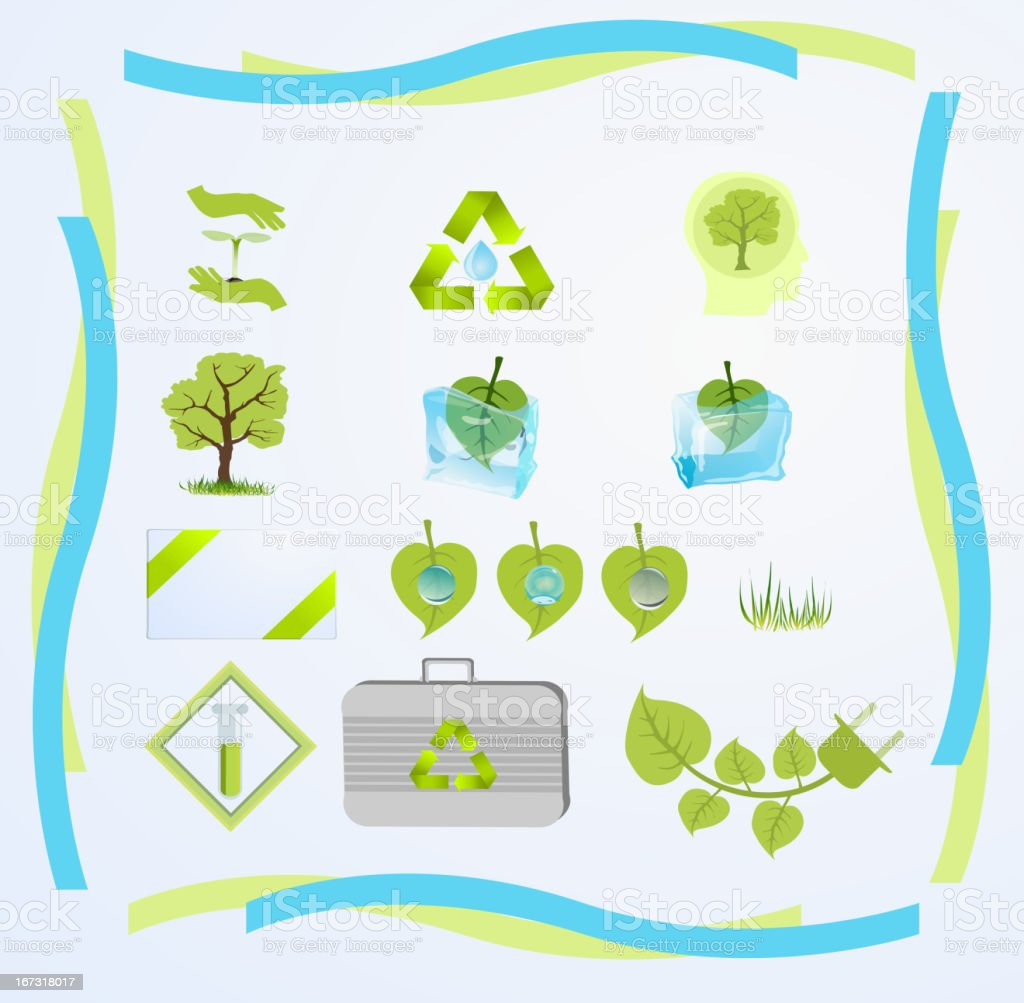green tech royalty-free stock vector art