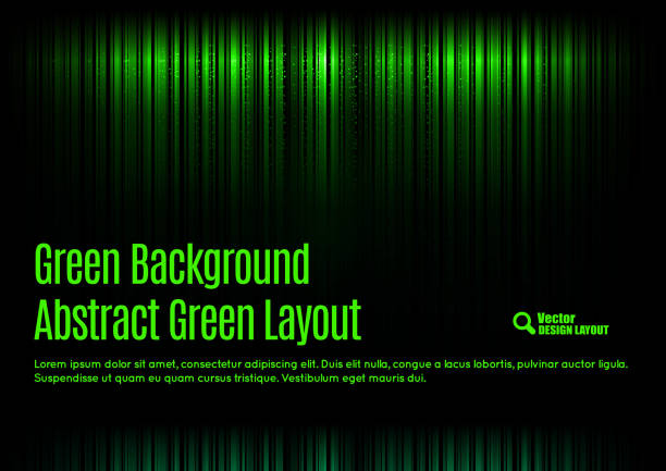 Green Template vector art illustration