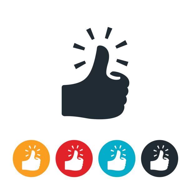 Green Thumb Icon vector art illustration