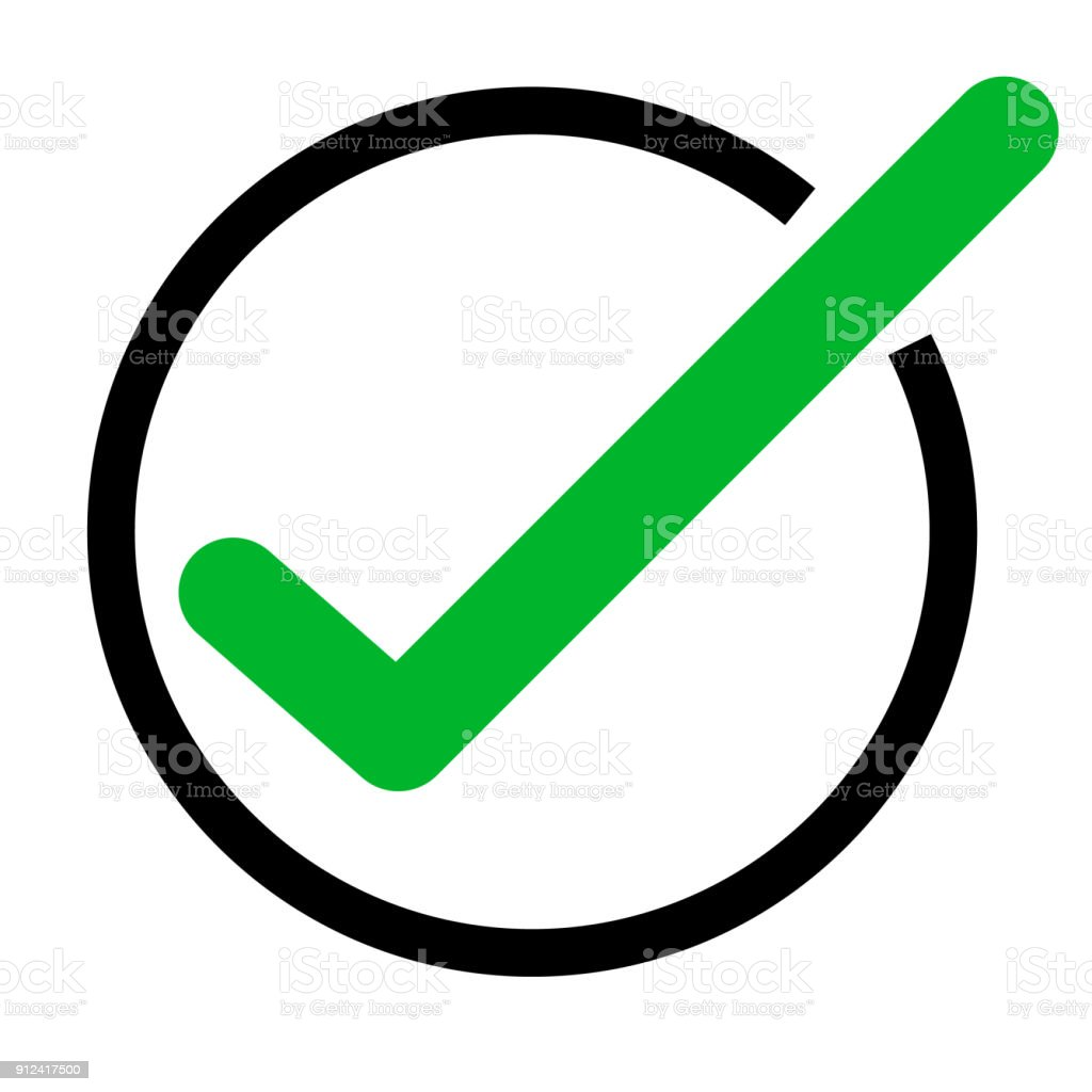 Green Tick Icon On White Background Green Check Mark Icon Tick Symbol Flat  Style Vector Tick Sign Stock Illustration - Download Image Now
