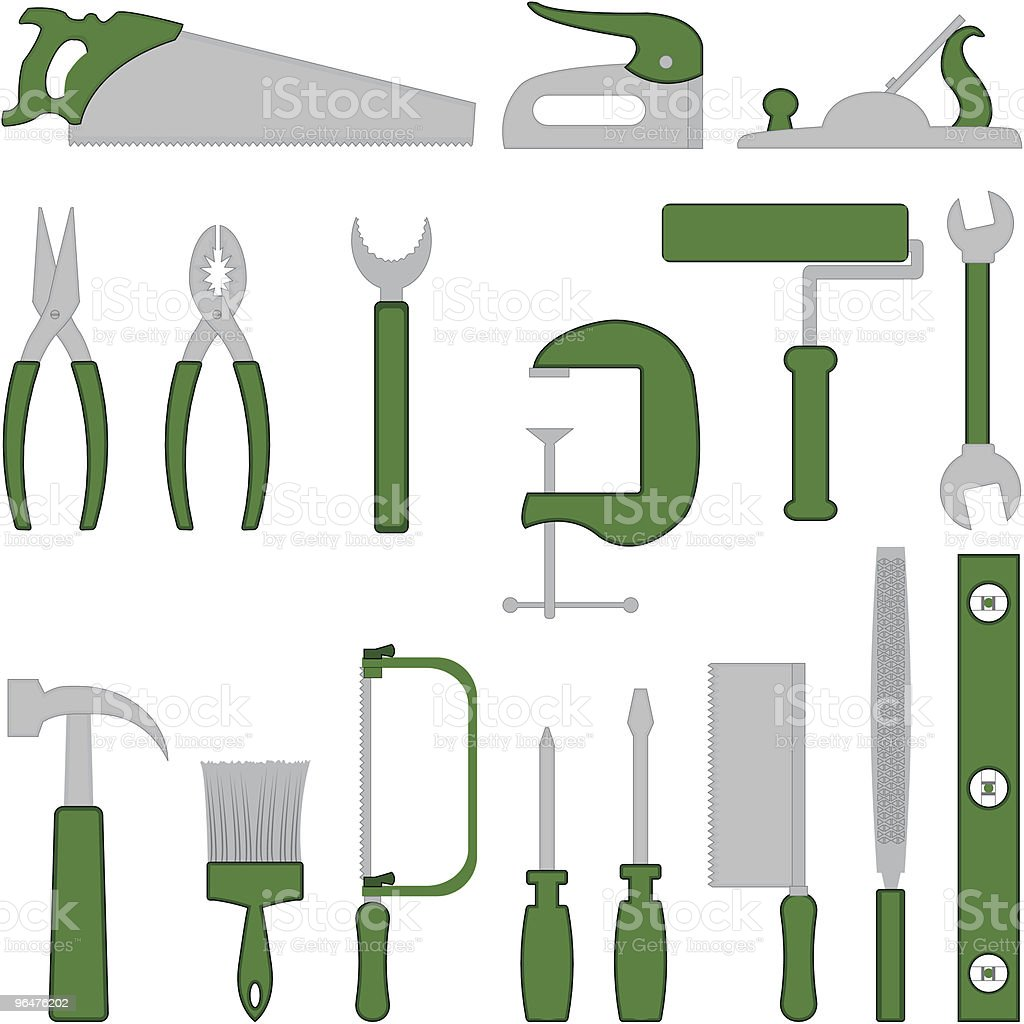 Green Tools royalty-free green tools stock illustration - download image now