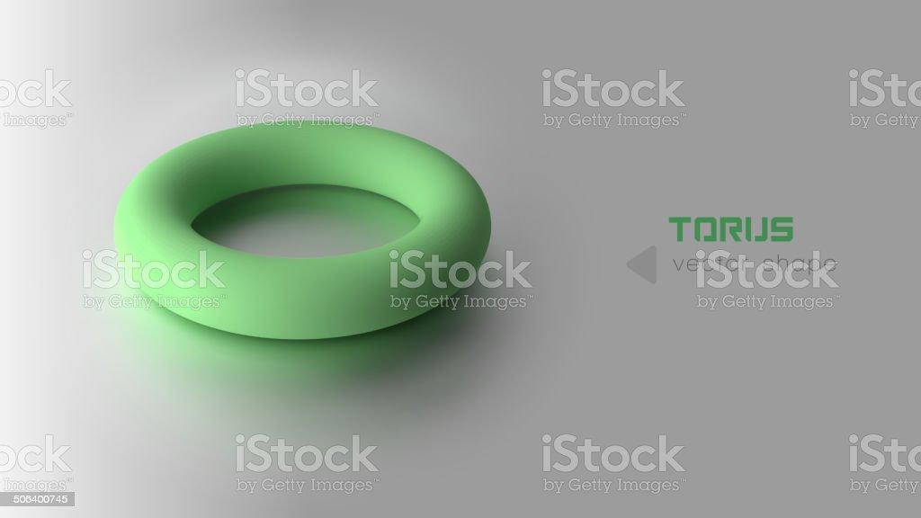 Green Torus vector art illustration