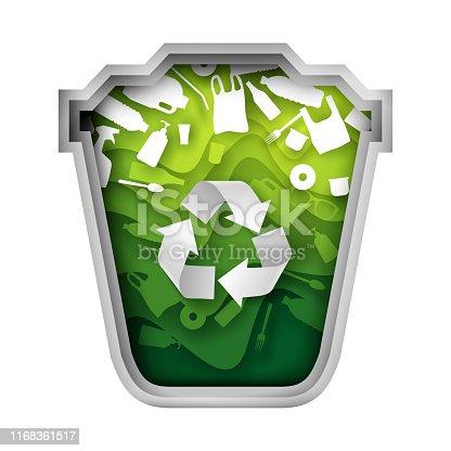 Reciclaje, basura, contenedores Clipart   k27488370   Fotosearch