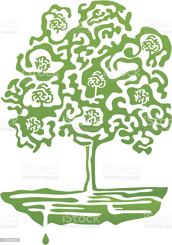 Green tree maze royalty-free stock vector art