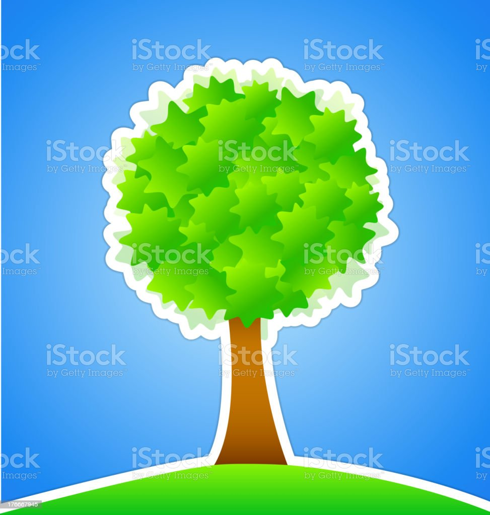 Green Tree royalty-free green tree stock vector art & more images of abstract