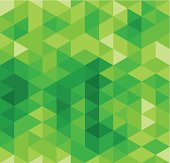 Green Triangle Abstract Seamless Pattern