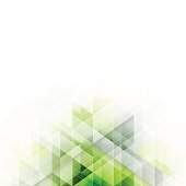 Green triangles design. Abstract vector background with geometric technology pattern and stripe for your title or headline.
