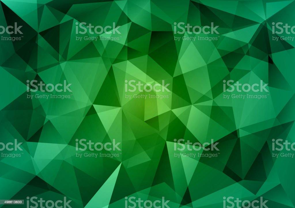 Green Triangles vector art illustration
