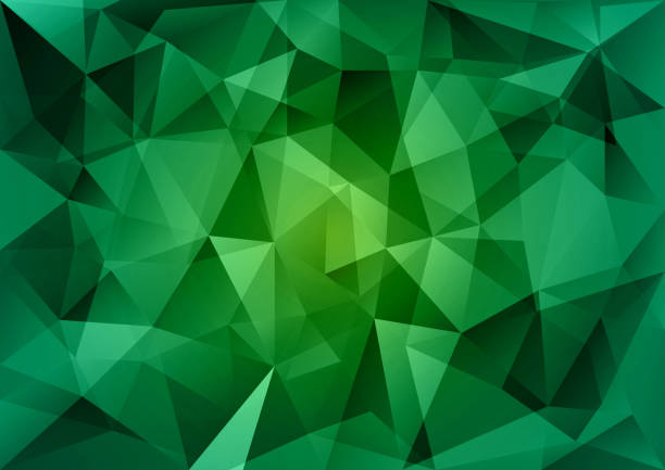 Green Triangles vector art illustration