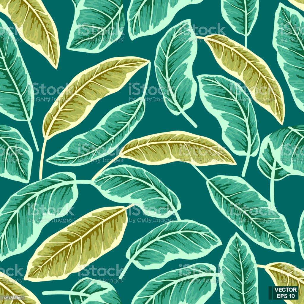 Green tropical leaves, seamless pattern. royalty-free green tropical leaves seamless pattern stock vector art & more images of abstract