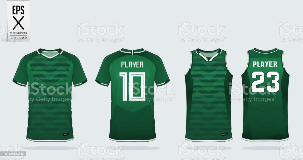 46bfb2bff Green Tshirt Sport Design Template For Soccer Jersey Football Kit ...