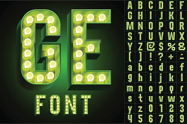 illustrazioni stock, clip art, cartoni animati e icone di tendenza di ultimate bianco. verde lampada bordo alfabeto - christmas movie