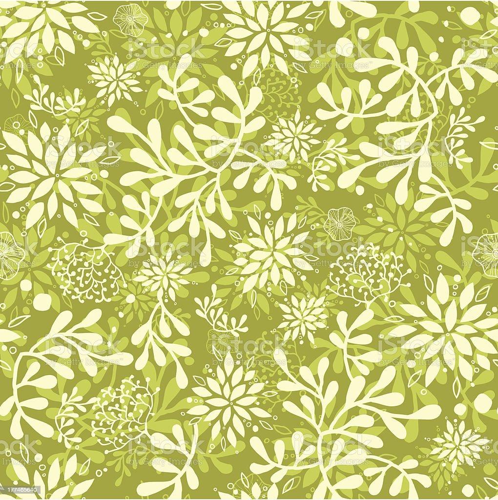 Green underwater plants seamless pattern background royalty-free stock vector art