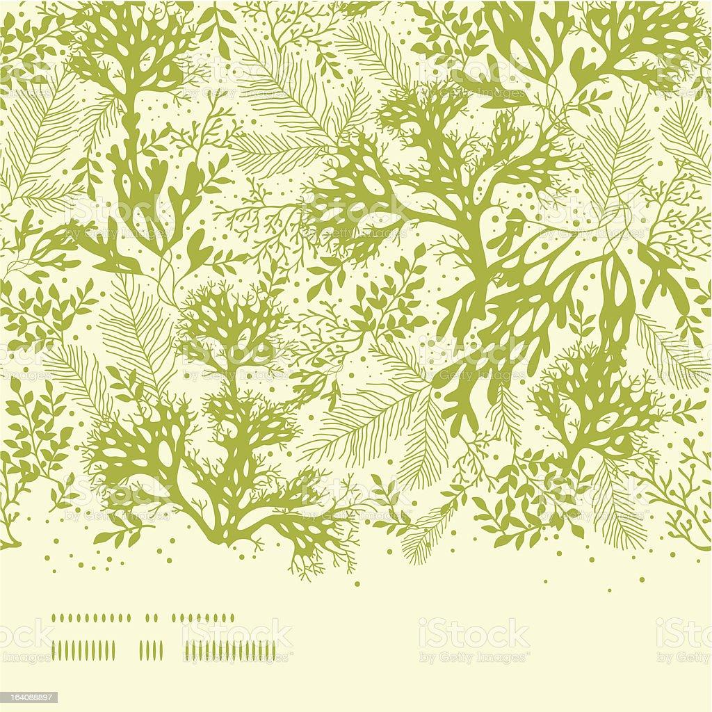 Green underwater seaweed horizontal seamless pattern background vector art illustration