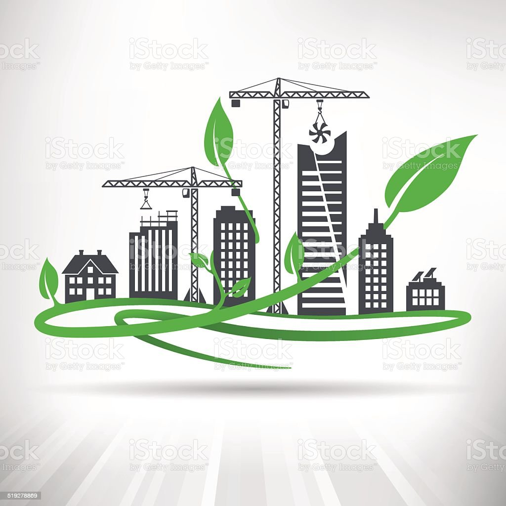 Sustainable Architecture Clip Art Vector Images Illustrations
