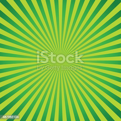 Radiant green abstract striped background. Vector illustration