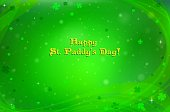 Green vector background with tiny shamrocks and flakes for St Patricks Day