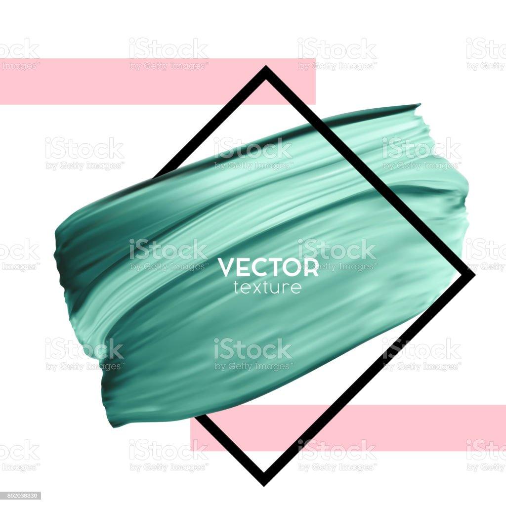 Beyaz Zemin üzerine Yeşil Vektör Boya Fırça Karalama şablon Kadın