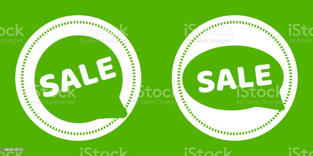 Green vector sale stickers royalty-free green vector sale stickers stock vector art & more images of abstract
