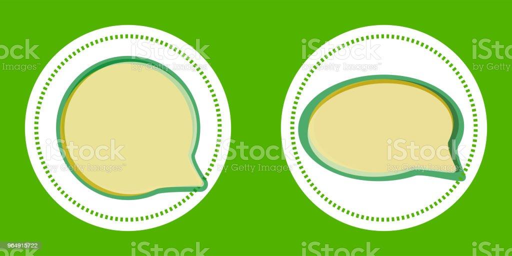 綠色向量語音貼紙 - 免版稅俄羅斯圖庫向量圖形