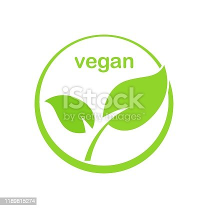 istock Green Vegan Product Vector Icon 1189815274