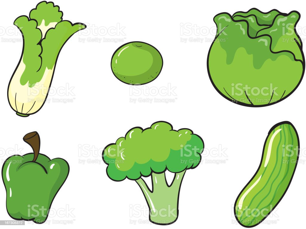 Green vegetables royalty-free stock vector art