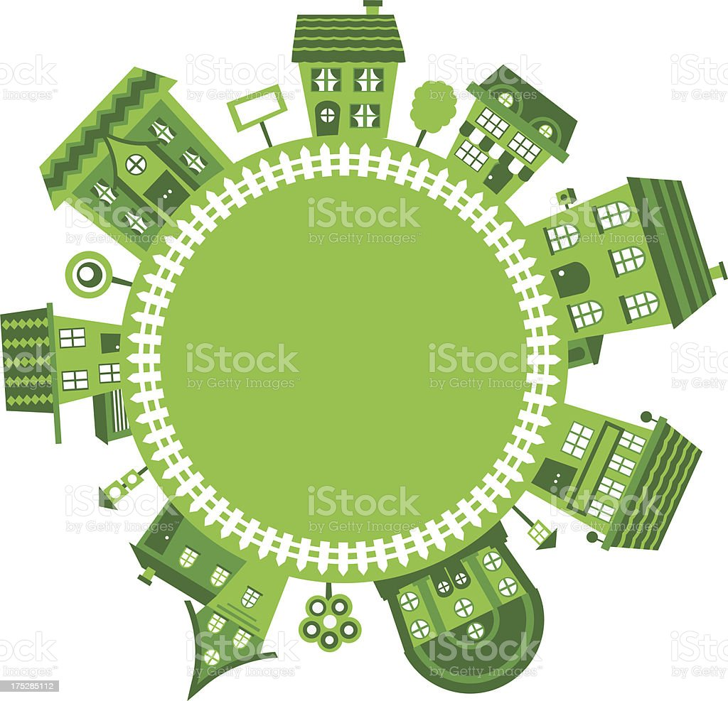 green village frame with houses royalty-free green village frame with houses stock vector art & more images of abstract