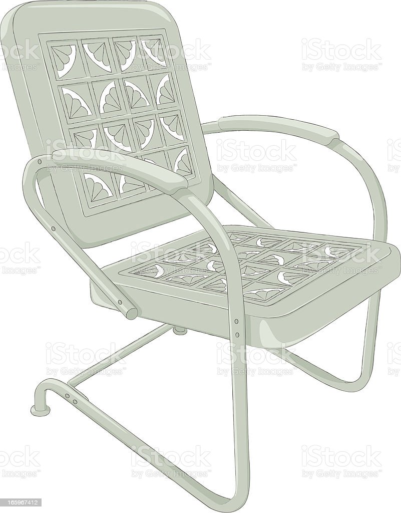 Green Vintage Metal Chair Stock Illustration Download Image Now Istock